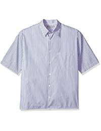 Vince 男式条纹半袖衬衫