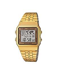 Casio Men's A500WGA-9 Gold Stainless-Steel Quartz Dress Watch