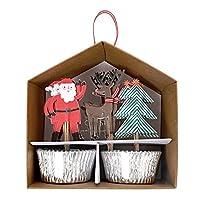 Meri Meri 45-2338 圣诞老人纸杯蛋糕套件 新奇