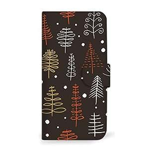 mitas 智能手机壳 手册式 圣诞 冬季 树SC-0331-B/SO-04J 2_Xperia XZ Premium (SO-04J) B
