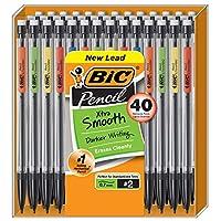 BIC 超顺滑 自动铅笔,中号笔尖(0.7毫米),40支