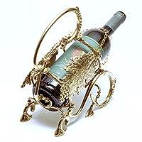 意大利制造 *瓶支架 香草 葡萄图案 黄铜 古色调 sti-1197