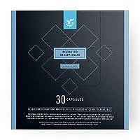 Amazon-Marke: Happy Belly Ristretto Decaffeinato Gemahlener UTZ Röstkaffee, entkoffeiniert, in Kapseln (kompostierbar), geeignet für Nespresso-Maschinen, 30 Kapseln