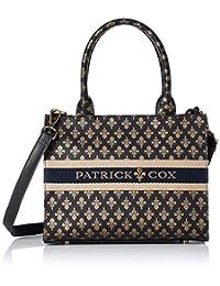 PATRICK COX 手提包 《KingsPremium》 百合图案印花 带标志刺绣 2WAY 带长肩带 PXLHJUH2