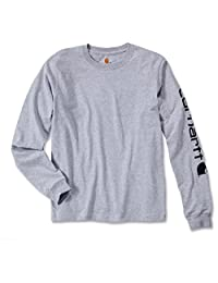 Carhartt 长袖 徽标长袖衬衫 BW EK231 Grau Meliert X-Large