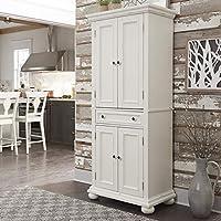 Home Styles 多弗白色厨房食品箱
