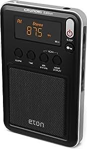 Eton Mini Compact AM/FM/Shortwave Radio, Black (NGWMINIB),需配变压器