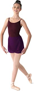 Mirella 女式乔其纱裹身舞裙,黑莓色,均码