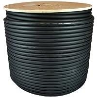 GLS Audio 500 英尺散装专业扬声器电缆 12AWG 黑色 - 接插线 12 号线缆 - Pro 500 英尺线轴卷 12G 2 导体散装
