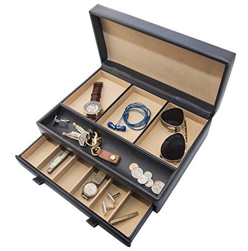 Stock Your Home 可堆叠珠宝收纳托盘 用于珠宝展示展示和珠宝收纳架 用于耳环、手镯、项链和戒指 Dresser Valet 971351072