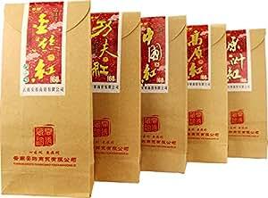 安够 云南滇红茶精选(金丝红+中国红+高原红+原味红+功夫滇红) 300克/套(5口味)