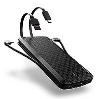 Iwalk 爱沃可 UBT12000X 自带苹果 Type-c 安卓 USB线 12000毫安 移动电源 充电宝 (黑色) 顺丰发货
