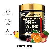 OPTIMUM NUTRITION 黄金标准营养剂 锻炼前补充肌酸 β-丙氨酸和咖啡因 水果口味 30份