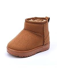 MATT keely 冬季靴适用于男孩女孩柔软保暖鞋幼儿雪地靴幼儿/小童