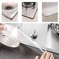 水槽贴挡水条厨房防霉贴家用自粘水池边缝隙防水贴洗手台 (1000*5)