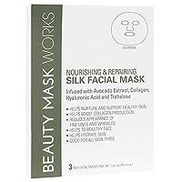 Beauty Mask Works 丝绸纤维滋养和修复,3 只装