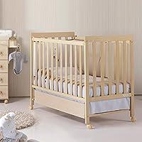 Micuna 西班牙原装进口 实木婴儿床/欧式环保榉木多功能宝宝童床 BASIC 1(自然色)(亚马逊自营商品, 由供应商配送)