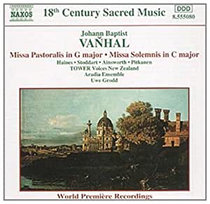 进口CD:C大调弥撒曲 田园弥撒曲 Vanhal:Missa Pastoralis Missa Solemnis(CD)8.555080