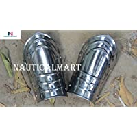 Nautical-Mart LARP Armor Steel Bracers 中世纪手臂保护对 Armour 幻想服装