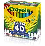Crayola 58-7858 Ultra-Clean Washable Broad Line Markers, 40-Count 海外直邮 【亚马逊海外卖家】