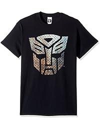 变形金刚男式 AUTOBOTS 金属徽标 T 恤