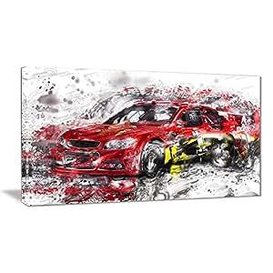 """数字艺术 PT2622-271 """"红色赛车""""墙壁艺术印刷品"""