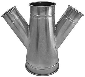 Nordfab Ducting 3226-1505-107055 QF 双分支 45 度 15-5-7-5,15 英寸直径,镀锌钢