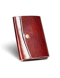 LAN 真皮钱包薄款简约前口袋钱包男式纳米信用卡盒钱夹男式钱包皮革纤薄钱夹小码