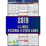 伊利诺伊州和联邦劳动法海报(更新)- 符合 OSHA 工作场所标准 60.96 厘米 x 91.44 厘米 - 需要一张邮寄 - UV 涂层