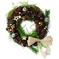 彩か【SAIKA】 CGX-R01M Ribbon Wreath -Twig & Jute Ribbon M
