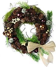 彩か【SAIKA】 CGX-R01M Ribbon Wreath -Twig & Jute Ribbon M