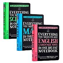 美国中学生优等生笔记3册 Everything You Need to Ace Science/Math/English获得A的方法 英语语言艺术数 [平装] Workman