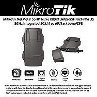 Mikrotik NetMETAL 5 RB921UAGS-5SHPacT-NM 美国版无线设备超高功率 2000mW 3x3 三联链 802.11ac 无线,3xRPSMA 连接器,,,,,客户端操作系统L4,POE