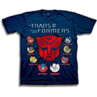 Transformers Boys' Autobots Character Icons Short Sleeve Graphic Tee T-Shirt