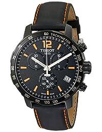 Tissot 男士手表 计时表 石英 皮革 T095.417.36.057.00