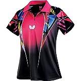 蝴蝶 Butterfly 乒乓球服休闲衬衫女式 スペーシア・シャツ 45319008粉红色