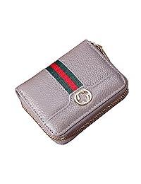女式男式 RFID 屏蔽信用卡卡包钱包皮革保护壳 小号 灰色