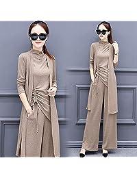 秋装套装女女装时尚潮秋季韩版洋气时髦气质阔腿裤三件套
