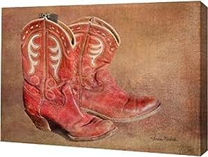 "PrintArt GW-POD-48-RM1200-36x26 ""Her Workin Boots""由 Ramona Murdock 画廊装裱艺术微喷油画艺术印刷品 30"" x 21"" GW-POD-48-RM1200-30x21"
