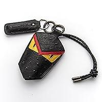 SEMPHIALE 小怪兽汽车钥匙包奔驰路虎大众车用钥匙包真皮男车钥匙套车型通用 (红色)