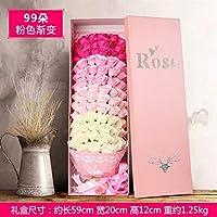玫瑰香皂花束礼盒 生日礼物送朋友同学 创意情人节女友男生玫瑰花99朵粉色渐变