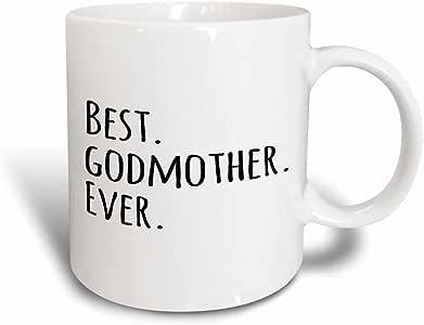 3drose inspirationzstore Typography–*的 godmother–GIFTS for GOD mothers 或 godmoms–GOD Mom–godparents–黑色字体–马克杯 黑色/白色 11-oz Magic Transforming Mug