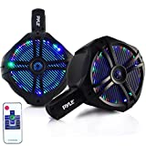 "Pyle PLMRWB65LEB Hydra Dual Marine Wakeboard Water Resistant Speakers, LED Lights, 6.5"", 200W"