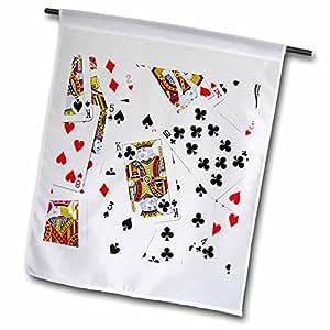 InspirationzStore 游戏设计 - 散射的扑克照片 - 适用于纸牌游戏玩家,如扑克桥游戏 casino las vegas night - 旗帜 12 x 18 inch Garden Flag fl_112896_1