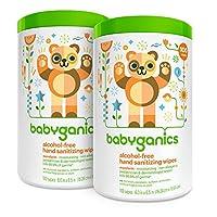 Babyganics 無酒精洗手巾,柑橘,100 個裝(2 個裝),標準