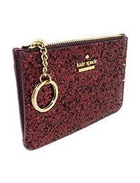 Kate Spade New York Laurel Way Bitsy 卡套钱包钥匙圈闪亮深紫红色