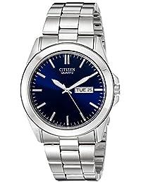 Citizen 男式 BF0580-57L 银色不锈钢手表