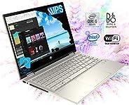 HP Pavilion x360 14 英寸 FHD WLED 触摸屏二合一可转换笔记本电脑,英特尔四核 i5-8250U 1.60GHz 高达 3.4GHz、8GB DDR4、256GB SSD、WiFi、蓝牙、网络摄