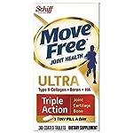 Move Free Ultra 三重*关节补充剂,含 II 型胶原蛋白、透明质酸及硼;支持关节、软骨和骨骼 75 片 Tablets 30份 30