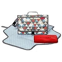 美国Skip Hop Pronto便携式多功能婴儿换片垫/布尿垫--三角圆形SH202025